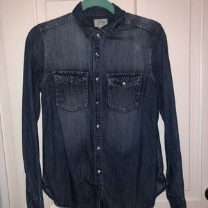 Jean Shirt Button Up